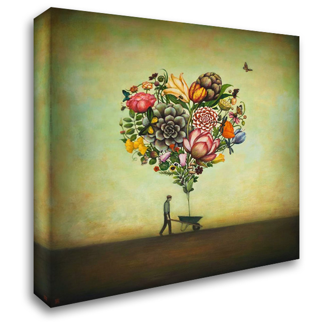 Big Heart Botany 28x28 Gallery Wrapped Stretched Canvas Art by Huynh, Duy