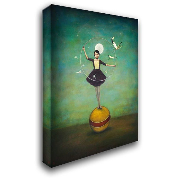 Luna's Circle 28x36 Gallery Wrapped Stretched Canvas Art by Huynh, Duy