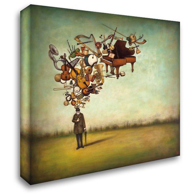Thanks for the Melodies 28x28 Gallery Wrapped Stretched Canvas Art by Huynh, Duy