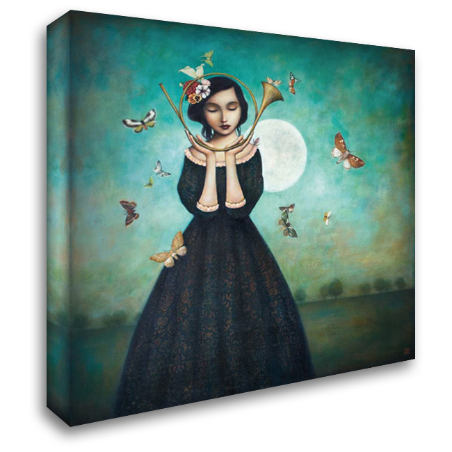 Evening Echoes 28x28 Gallery Wrapped Stretched Canvas Art by Huynh, Duy