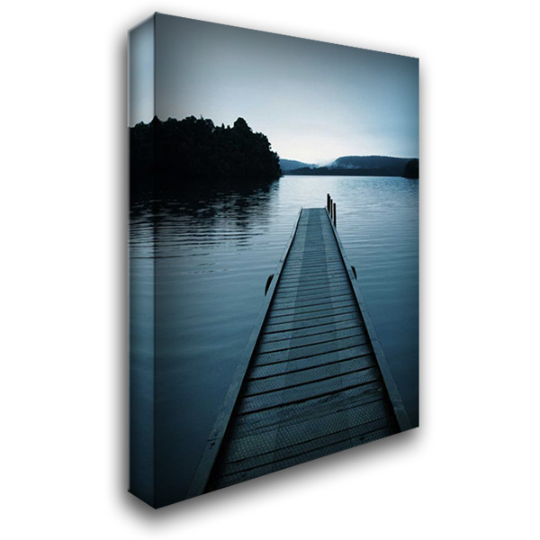 Dock 3 28x36 Gallery Wrapped Stretched Canvas Art by PhotoINC Studio