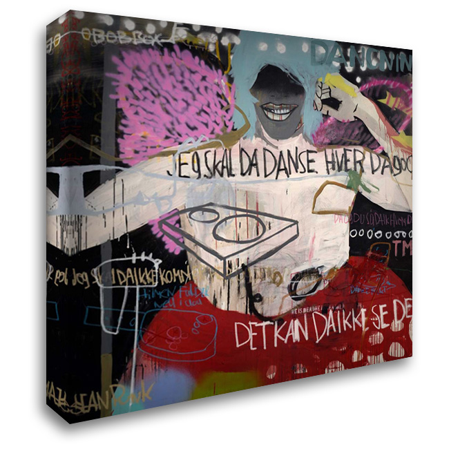 DJ 28x28 Gallery Wrapped Stretched Canvas Art by Punk, Sean