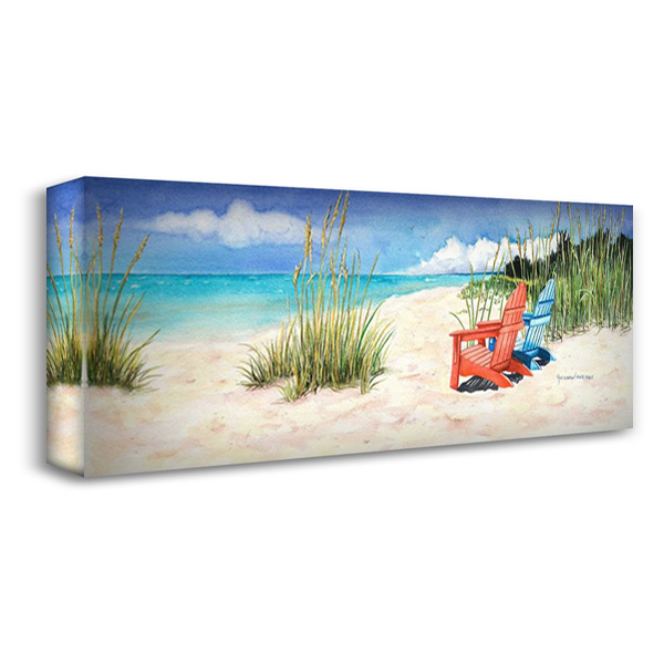 Happiness Is… 40x17 Gallery Wrapped Stretched Canvas Art by Reichow, Christine