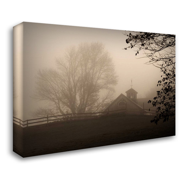 Parish Hill Barn 37x28 Gallery Wrapped Stretched Canvas Art by Triebert, Christine