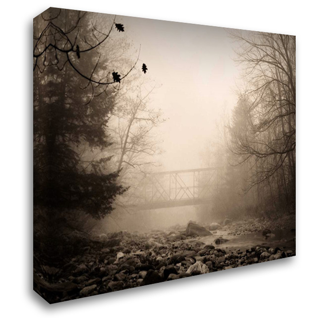 Parish Hill Bridge 36x28 Gallery Wrapped Stretched Canvas Art by Triebert, Christine