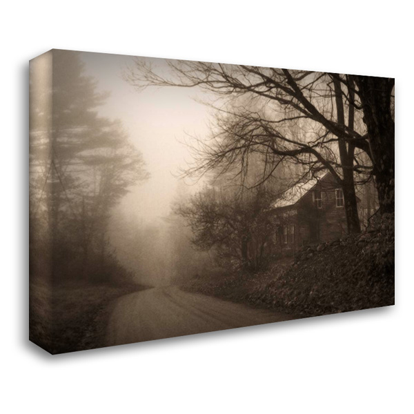 Parish Hill Road 37x28 Gallery Wrapped Stretched Canvas Art by Triebert, Christine