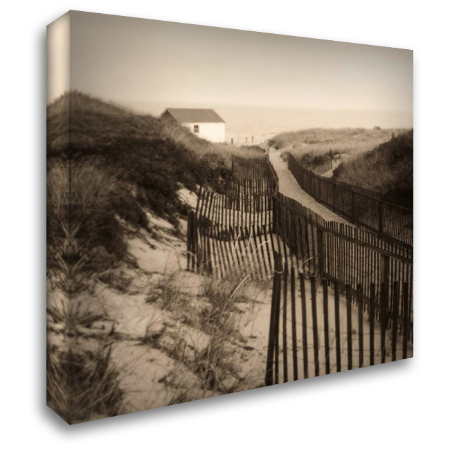Dune Fence 28x28 Gallery Wrapped Stretched Canvas Art by Triebert, Christine