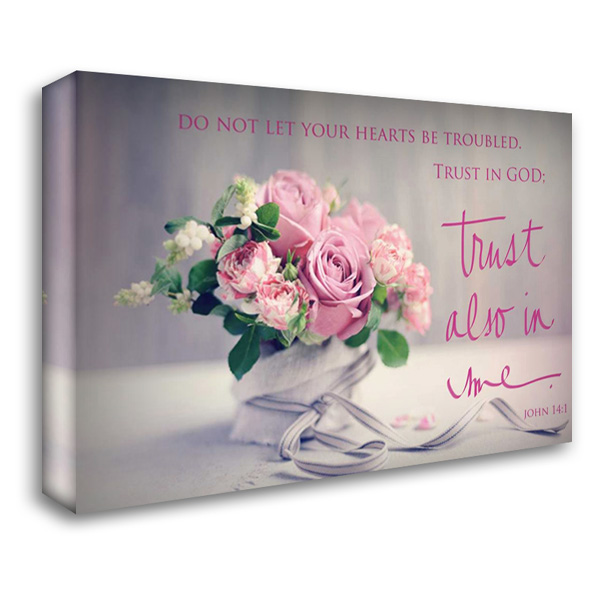 Do Not Let Your Hearts Be Troubled 40x28 Gallery Wrapped Stretched Canvas Art by Gardner, Sarah