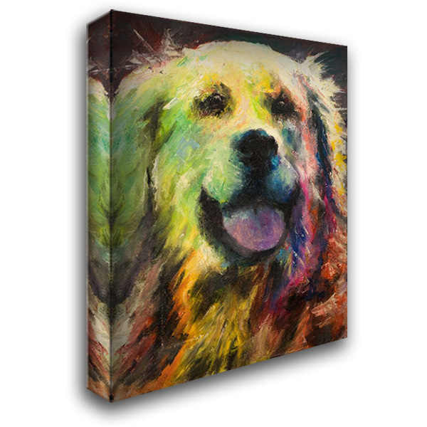 Happy Companion I 28x36 Gallery Wrapped Stretched Canvas Art by Johnson, Walt