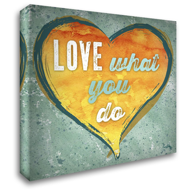 Do Love I 28x28 Gallery Wrapped Stretched Canvas Art by Medley, Elizabeth