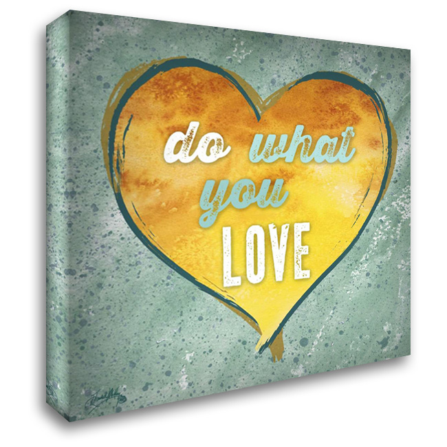 Do Love II 28x28 Gallery Wrapped Stretched Canvas Art by Medley, Elizabeth
