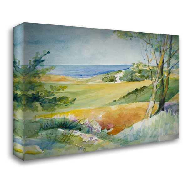 Distant Ocean View 37x28 Gallery Wrapped Stretched Canvas Art by Loreth, Lanie