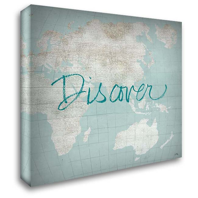 Discover The World 28x28 Gallery Wrapped Stretched Canvas Art by Medley, Elizabeth