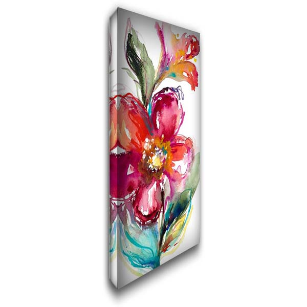 Happy Blooms I 22x40 Gallery Wrapped Stretched Canvas Art by Loreth, Lanie
