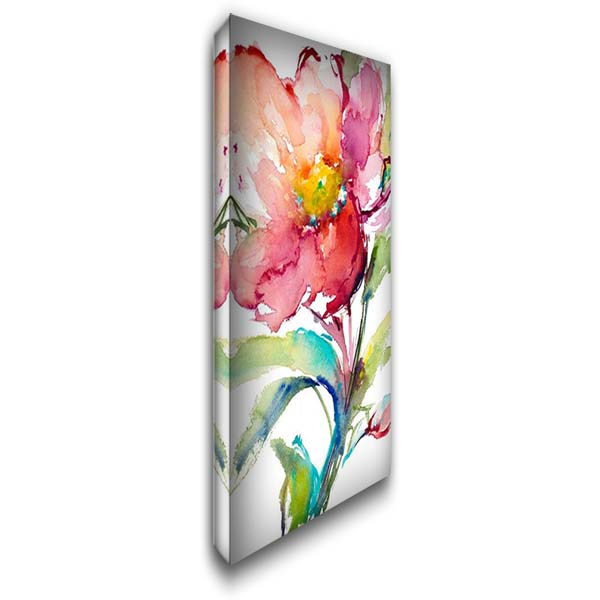 Happy Blooms II 22x40 Gallery Wrapped Stretched Canvas Art by Loreth, Lanie