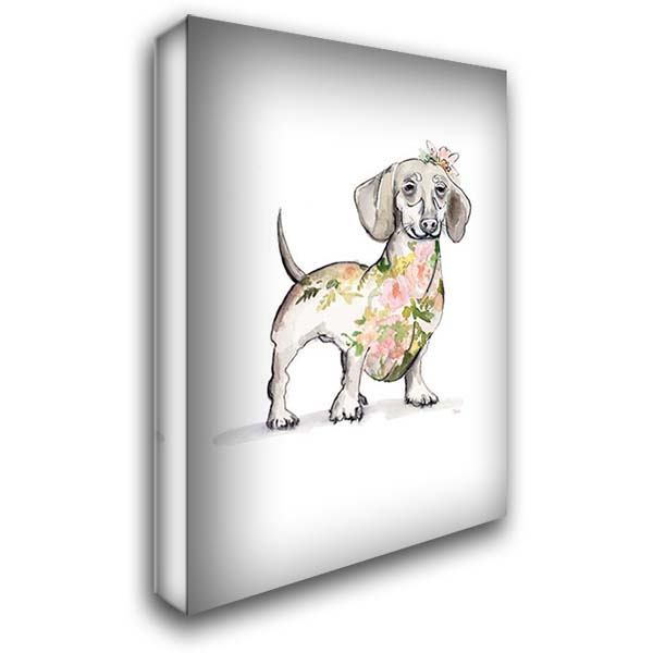 Happy Doggie 28x40 Gallery Wrapped Stretched Canvas Art by Pinto, Patricia