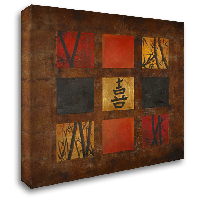 Happiness 28x28 Gallery Wrapped Stretched Canvas Art by Pinto, Patricia