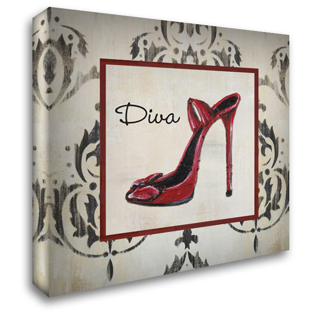 Diva Shoe 28x28 Gallery Wrapped Stretched Canvas Art by Hakimipour-Ritter