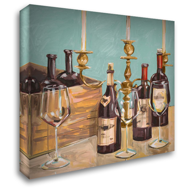 Dinner Party I 28x28 Gallery Wrapped Stretched Canvas Art by French-Roussia, Heather A.