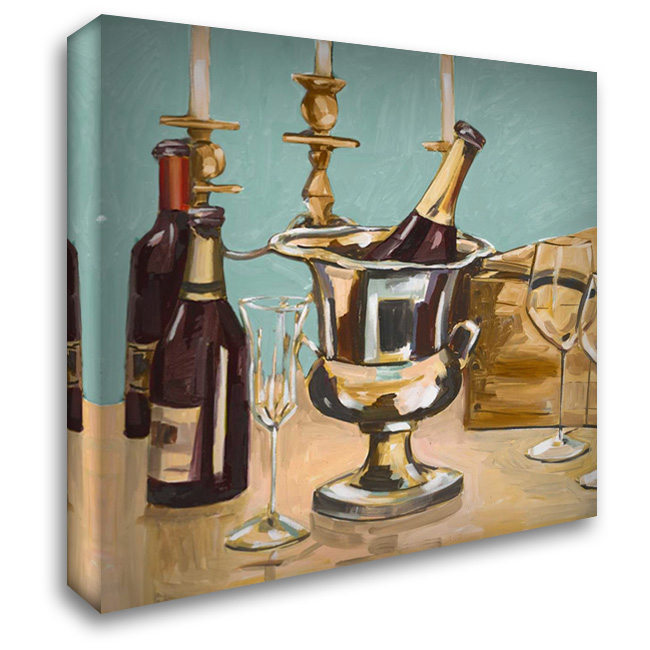 Dinner Party II 28x28 Gallery Wrapped Stretched Canvas Art by French-Roussia, Heather A.