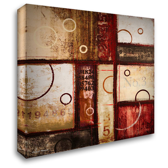 Digits in the Abstract I 28x28 Gallery Wrapped Stretched Canvas Art by Marcon, Michael