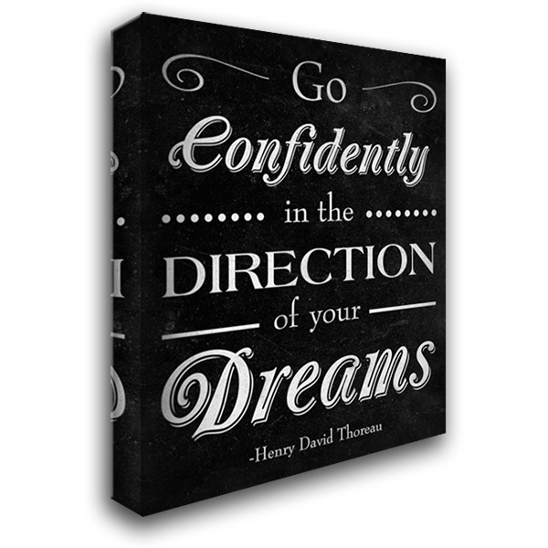 Direction of your Dreams 28x36 Gallery Wrapped Stretched Canvas Art by SD Graphics Studio