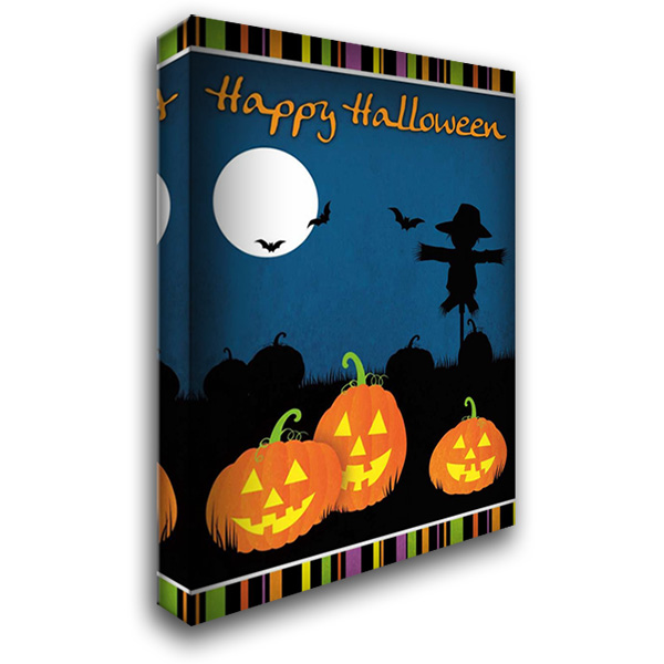Happy Halloween I 28x40 Gallery Wrapped Stretched Canvas Art by Josefina