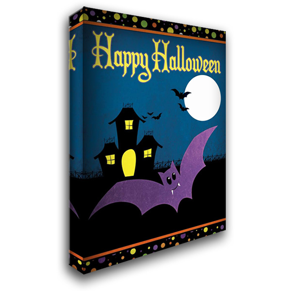Happy Halloween II 28x40 Gallery Wrapped Stretched Canvas Art by Josefina