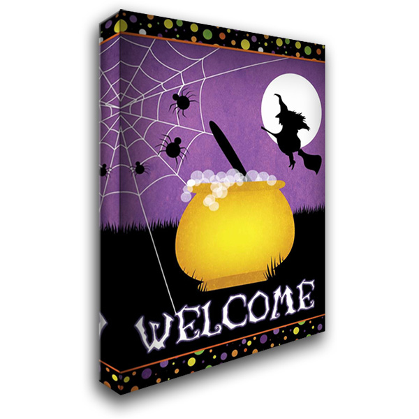 Halloween Witch 28x40 Gallery Wrapped Stretched Canvas Art by Josefina