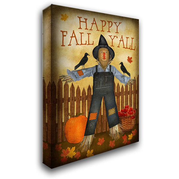 Happy Fall Yall 28x40 Gallery Wrapped Stretched Canvas Art by Albert, Beth