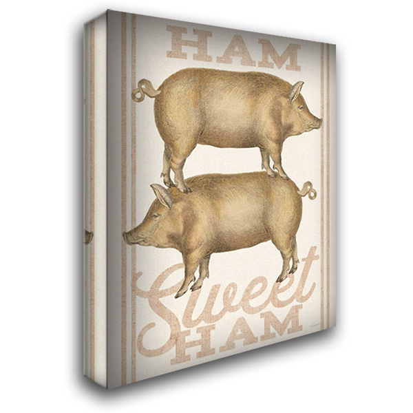 Ham Sweet Ham 28x36 Gallery Wrapped Stretched Canvas Art by Schlabach, Sue