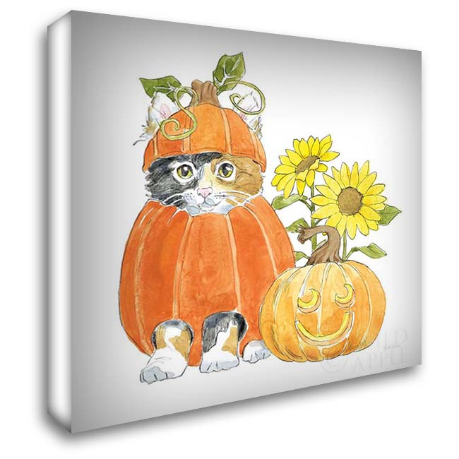 Halloween Pets II 28x28 Gallery Wrapped Stretched Canvas Art by Grove, Beth