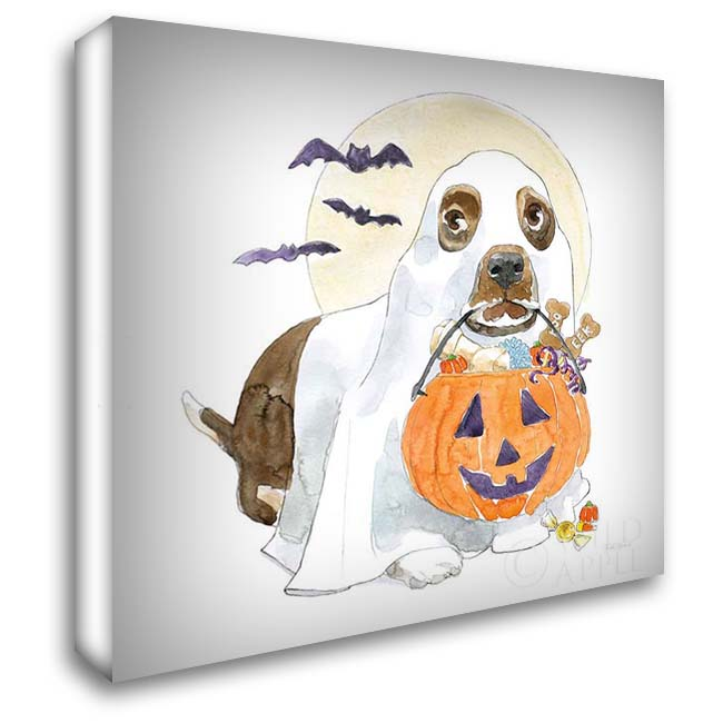 Halloween Pets III 28x28 Gallery Wrapped Stretched Canvas Art by Grove, Beth