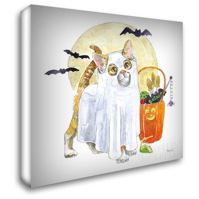 Halloween Pets V 28x28 Gallery Wrapped Stretched Canvas Art by Grove, Beth