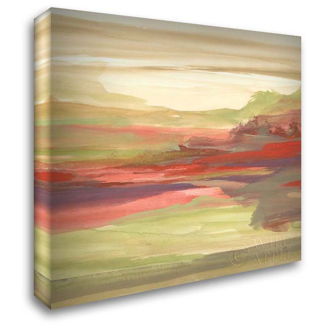 Distant Fields 28x28 Gallery Wrapped Stretched Canvas Art by Paschke, Chris