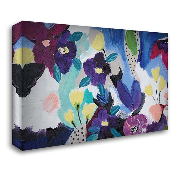Happy Flower Bar I 40x28 Gallery Wrapped Stretched Canvas Art by Davis, Joan E.
