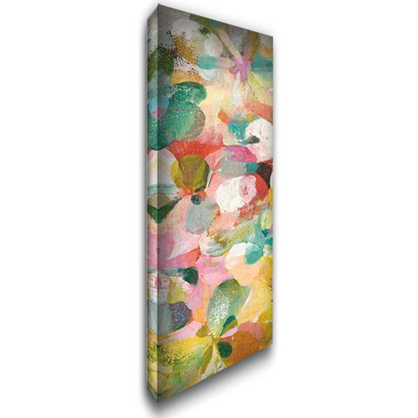 Happy Garden II 16x40 Gallery Wrapped Stretched Canvas Art by Nai, Danhui