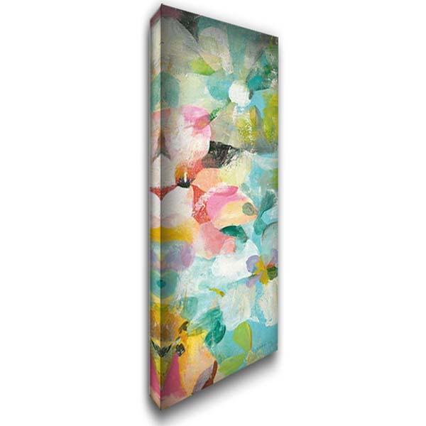 Happy Garden III 16x40 Gallery Wrapped Stretched Canvas Art by Nai, Danhui