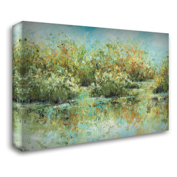 Hamden Pond 40x28 Gallery Wrapped Stretched Canvas Art by King, Michael