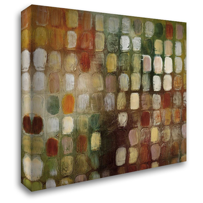 Divisions 28x28 Gallery Wrapped Stretched Canvas Art by Roth, Jack