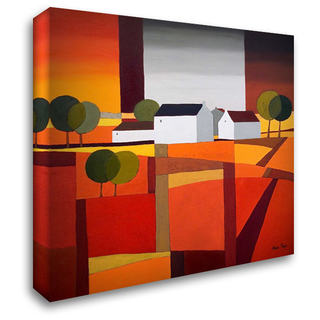 Hamlet III 28x28 Gallery Wrapped Stretched Canvas Art by Paus, Hans