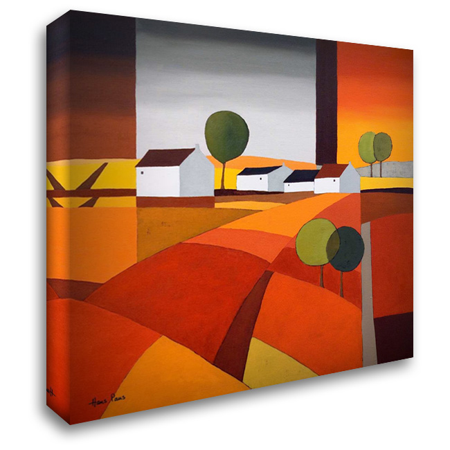 Hamlet IV 28x28 Gallery Wrapped Stretched Canvas Art by Paus, Hans