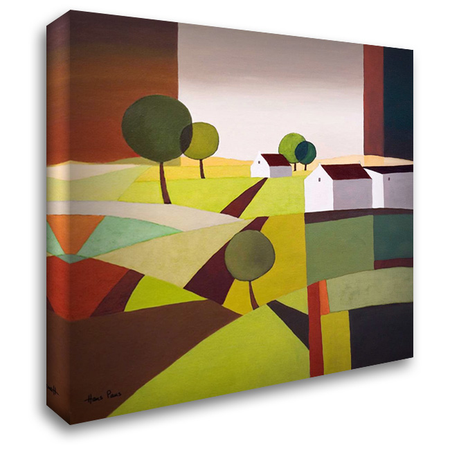 Hamlet VI 28x28 Gallery Wrapped Stretched Canvas Art by Paus, Hans