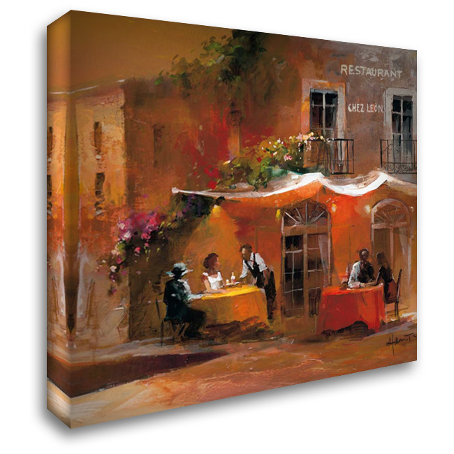 Dinner for two IV 28x28 Gallery Wrapped Stretched Canvas Art by Haenraets, Willem