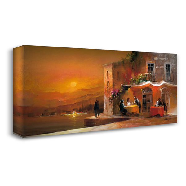 Dinner for two I 40x22 Gallery Wrapped Stretched Canvas Art by Haenraets, Willem