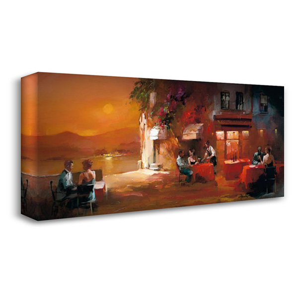 Dinner for two II 40x22 Gallery Wrapped Stretched Canvas Art by Haenraets, Willem