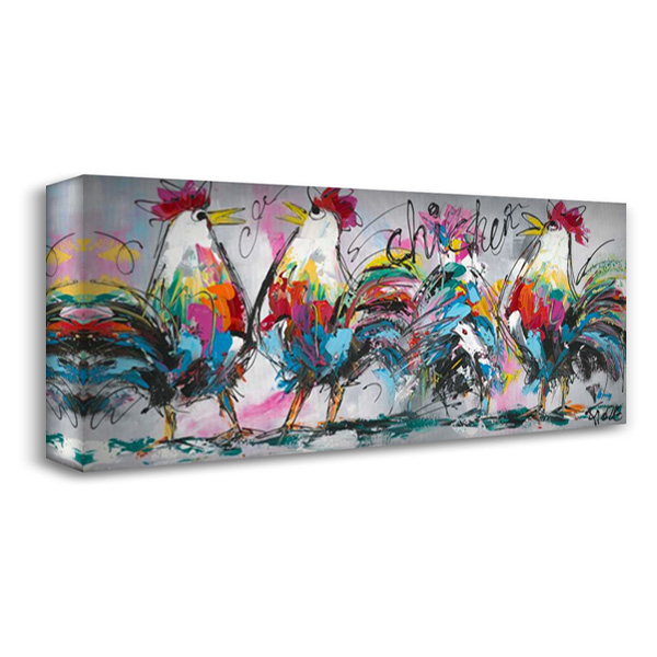 Discussions 40x18 Gallery Wrapped Stretched Canvas Art by Fiore, Art