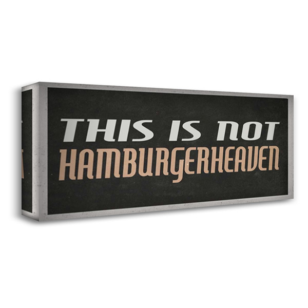 Hamburgerheaven 40x19 Gallery Wrapped Stretched Canvas Art by Waltz, Anne