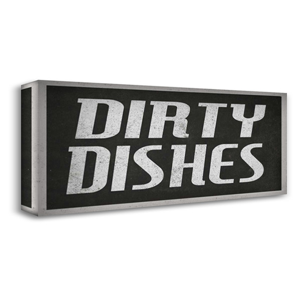 Dirty dishes II 40x19 Gallery Wrapped Stretched Canvas Art by Waltz, Anne
