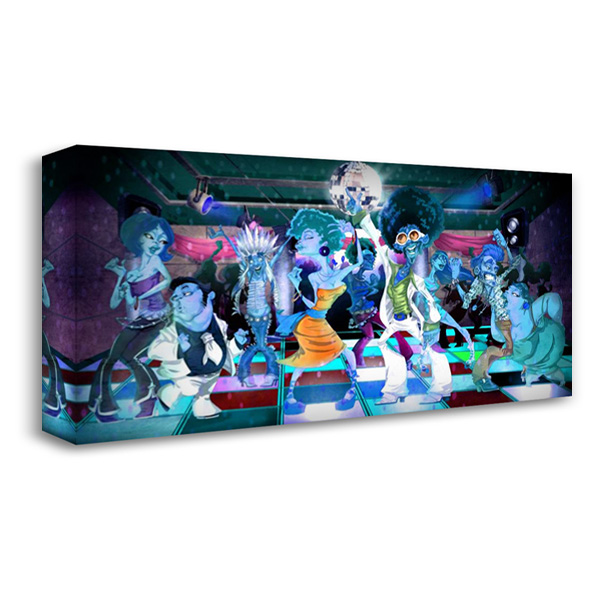 Disco Club -3 40x22 Gallery Wrapped Stretched Canvas Art by Alvez, A. - Perez, A.